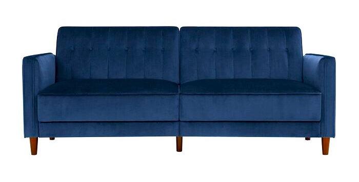 Nina Navy Velvet Sofa