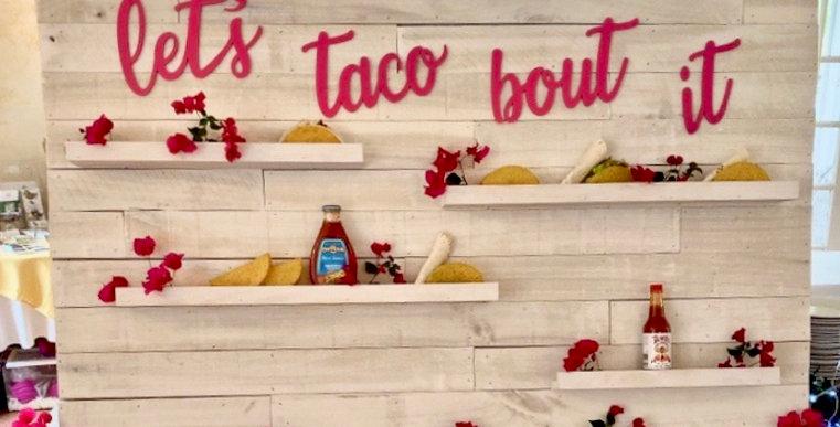 Taco Bar Display