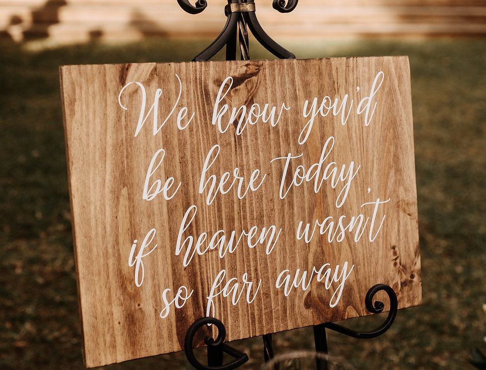 Medium Wooden Customizable Signs