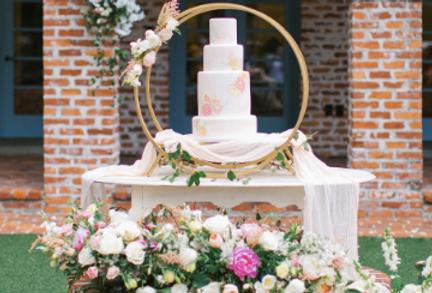Gold Infinity Cake Display