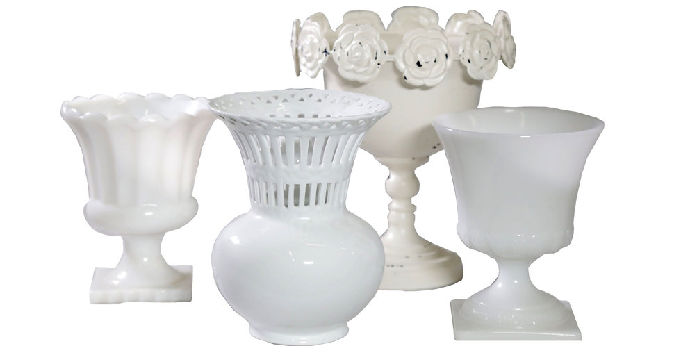 Andie White Vase Collection