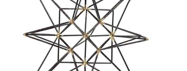 Black + Gold Geometric Stars