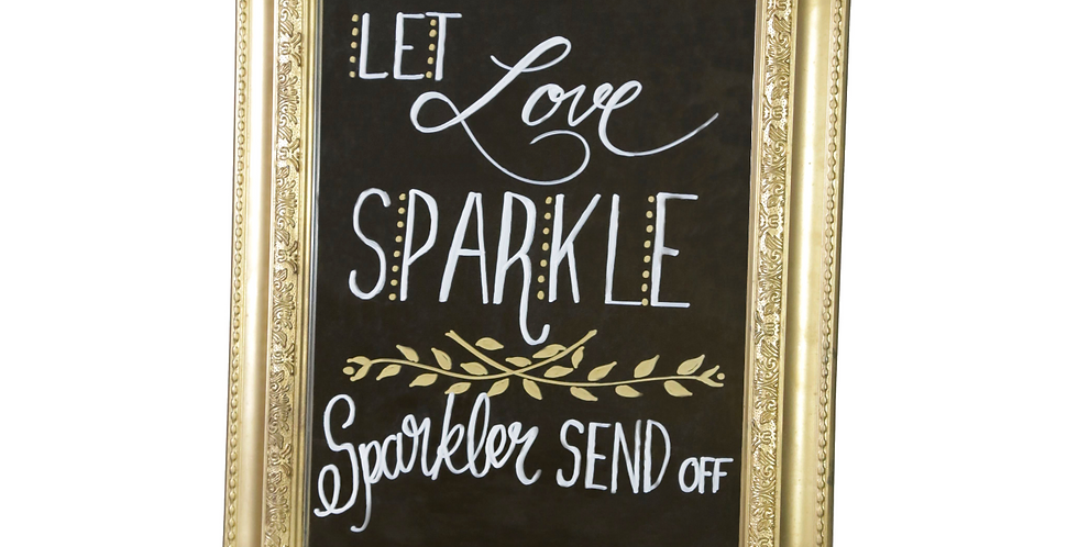 Sparkler Mirror Sign