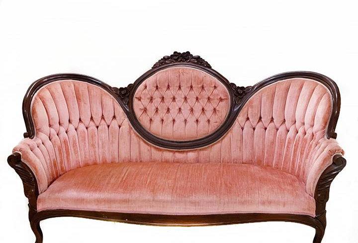 Ilene Blush Velvet Sofa