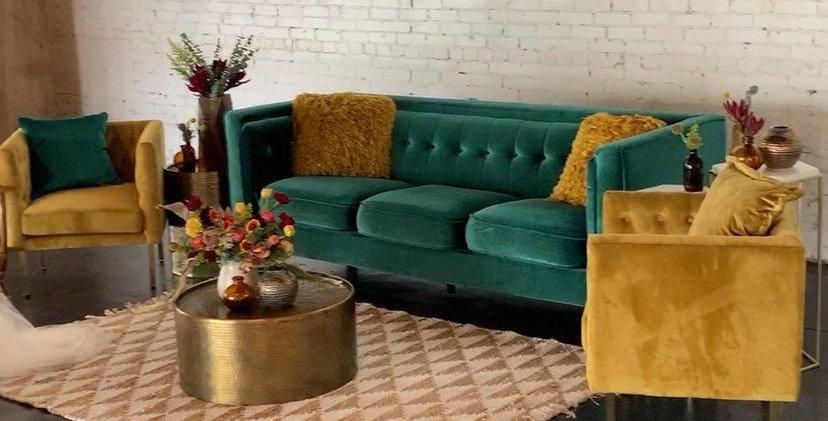 Natasha Emerald Velvet Sofa