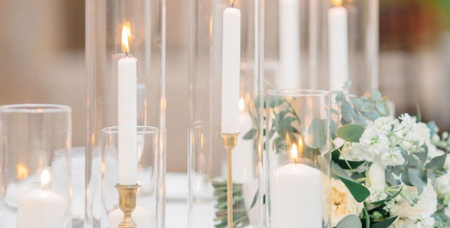 Glass Candlestick Covers