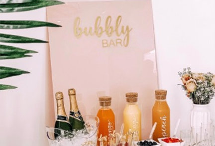 Blush Acrylic Bubbly Bar Sign
