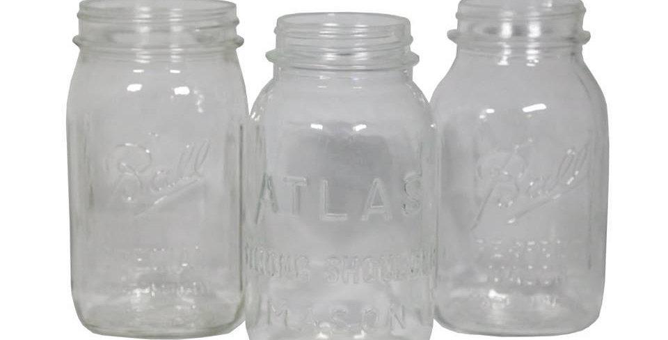Clear Mason Jars