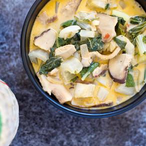 Curry au bok choy & shiitakés