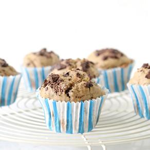 Muffins banane & chocolat sans sucre ajouté