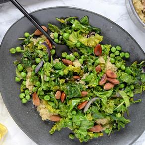 Quinoa vert & amandes grillées