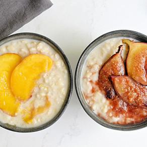 Riz au lait vegan & fruits cuits