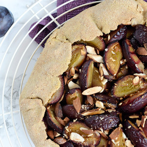 Tarte rustique prunes & amandes
