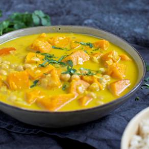 Curry de potimarron et pois chiches