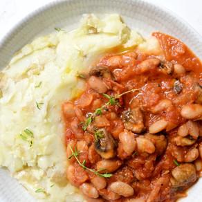 Ragoût de haricots secs & champignons