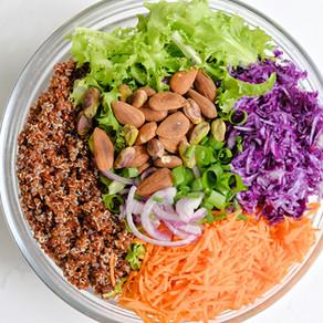 Salade colorée amandes & pistaches