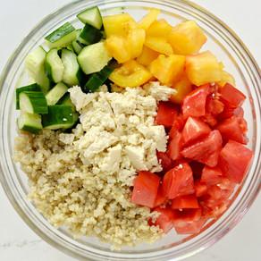 Salade d'été & sauce anti-inflammatoire