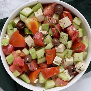 Salade d'été au tofu fermenté mariné