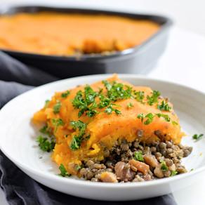 Parmentier lentilles, marrons & butternut