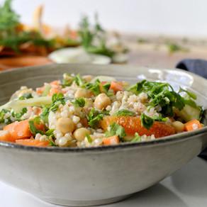 Salade sarrasin, fenouil & orange