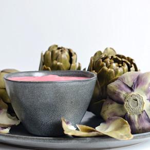 Artichauts vapeur & sauce rose