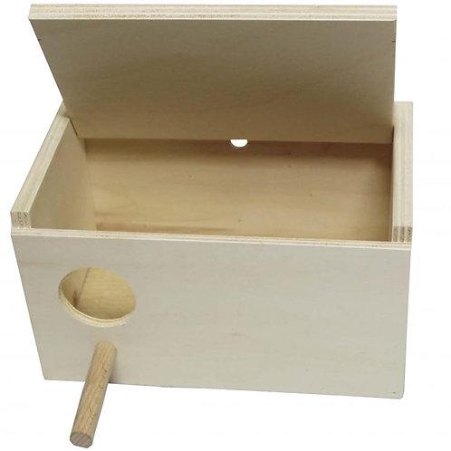 Holznistkasten für Wellensittiche