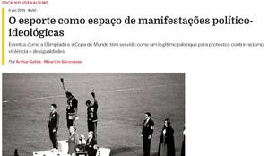 Esporte e manifestações político-ideológicas são tema do Foca no Jornalismo