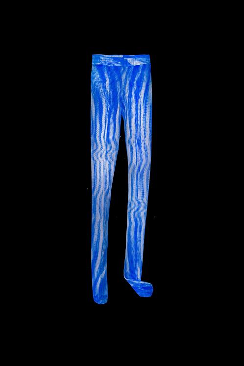 Meia Calça Optical Blue