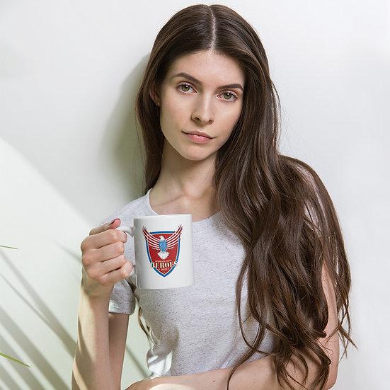 Honor Our Fallen Heroes White glossy mug