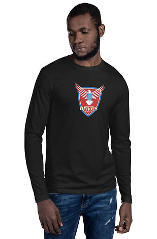 Honor our Fallen Heroes Long Sleeve Fitted Crew