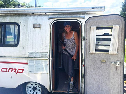 Flippin' the camper from drab to fab.