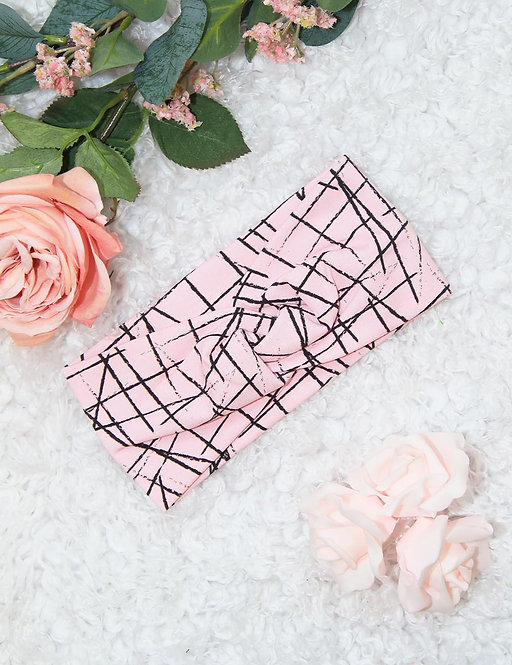 "Haarband Knoten ""rosa stripes"" 45-49cm"