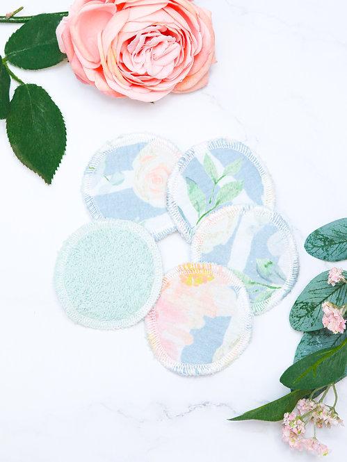 """Kosmetik Pads Musselin-Frottee """"flowers"""""""