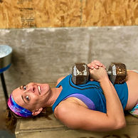 Alicia doing crossfit at the best crossfit gym in altus