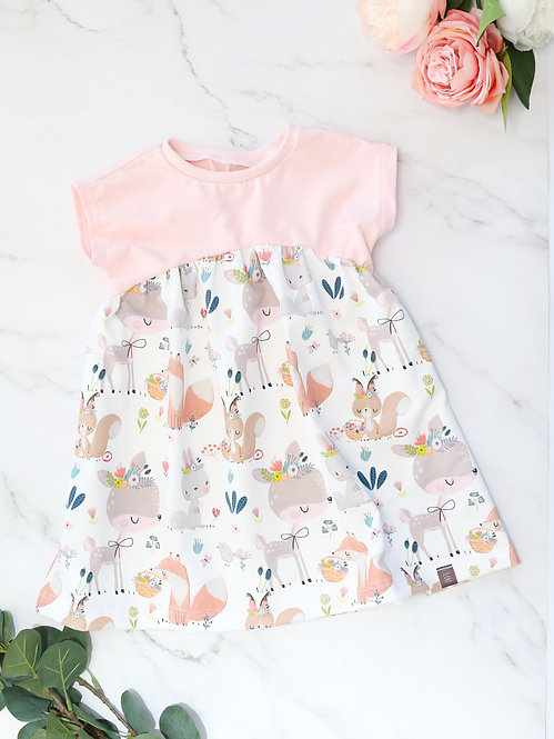Oversize-Kleid (Waldtiere)