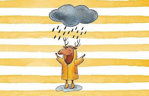 "Bio Sommersweat Panel ""Rainy Day gelb"""