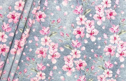 "Bio Jeans Jersey ""Kirschblüten"""
