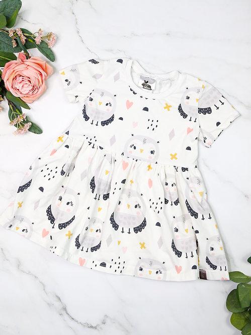 kurzarm Jersey-Kleid