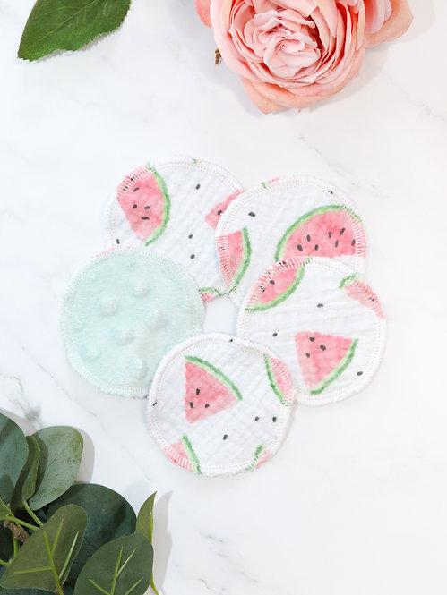 """Pads Musselin-Minky """"watermelon"""""""