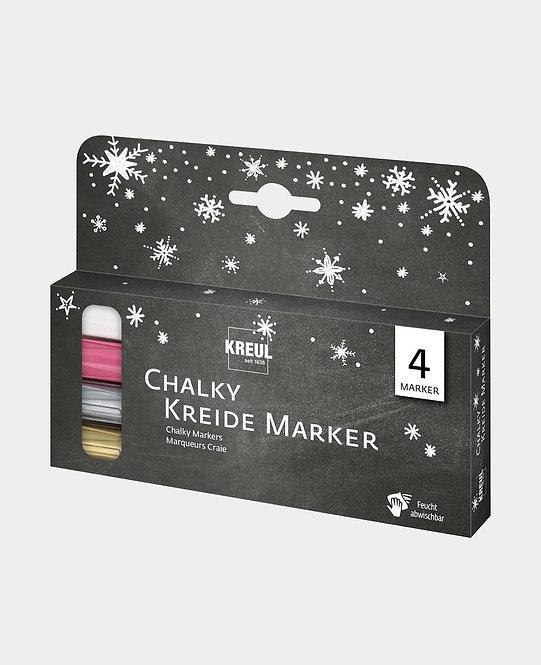 KREUL Chalky Kreidemarker medium Winter 4er Set