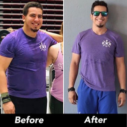 Gio working out and losing weight at the