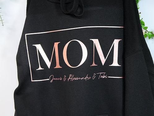 MOM Hoodie anliegend geschnitten
