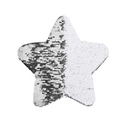 Wendepailletten Stern gross bedruckt