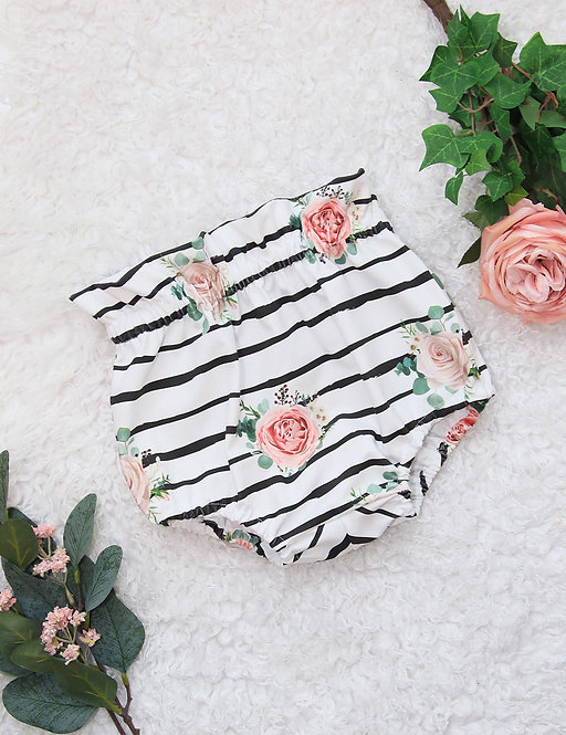 Jersey Bloomers (stripes & roses)