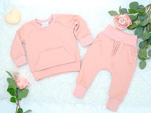 Sweater Set mit Bauchtasche
