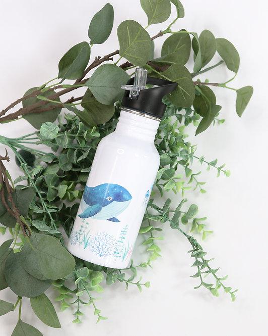Strohhalm-Aluminiumtrinkflasche mit Wunschdesign