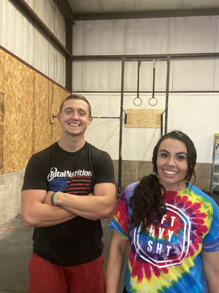 Emily and Zac doing crossfit at the best gym in altus ok