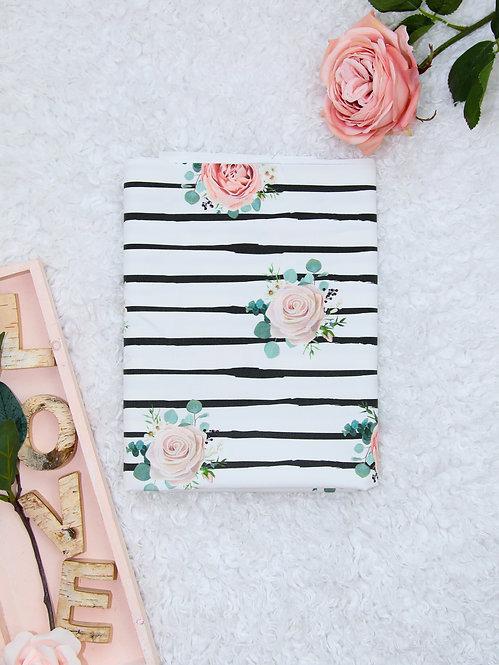 """Premium Baumwolle """"stripes & roses"""""""