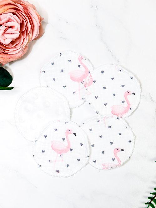 "Kosmetik Pads Musselin-Minky ""flamingo"""