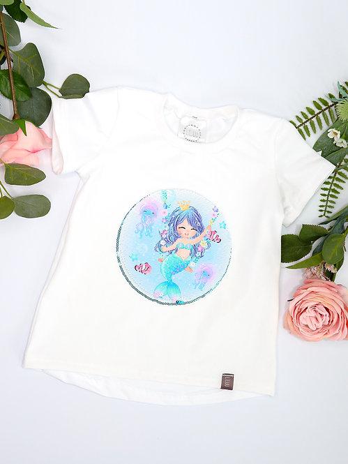 Mädchen Jersey Shirt mit Wende-Paillette